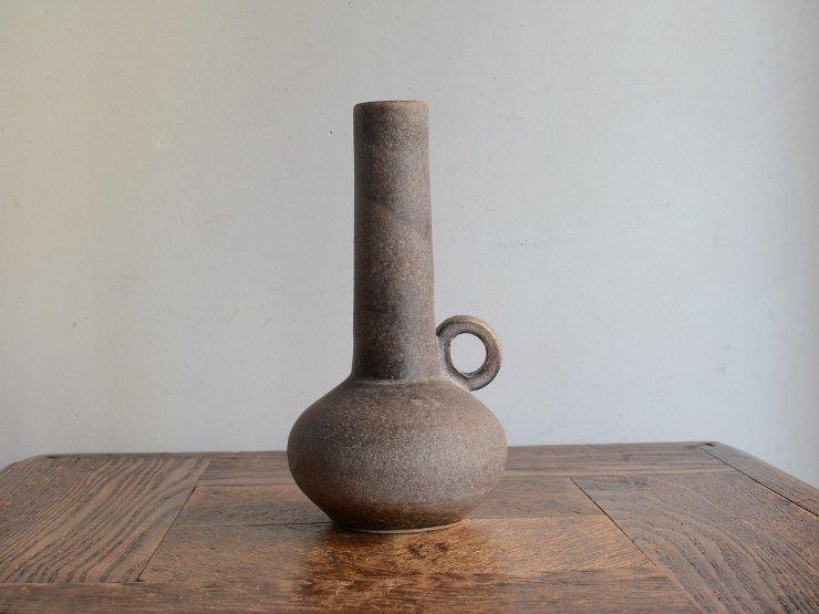 ヴィンテージ 陶器フラワーベース(H17cm)