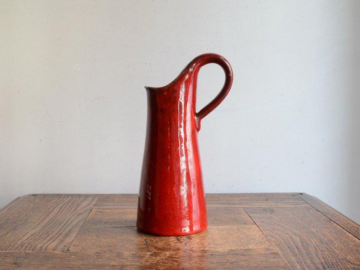 ヴィンテージ 陶器フラワーベース(H17.5cm)