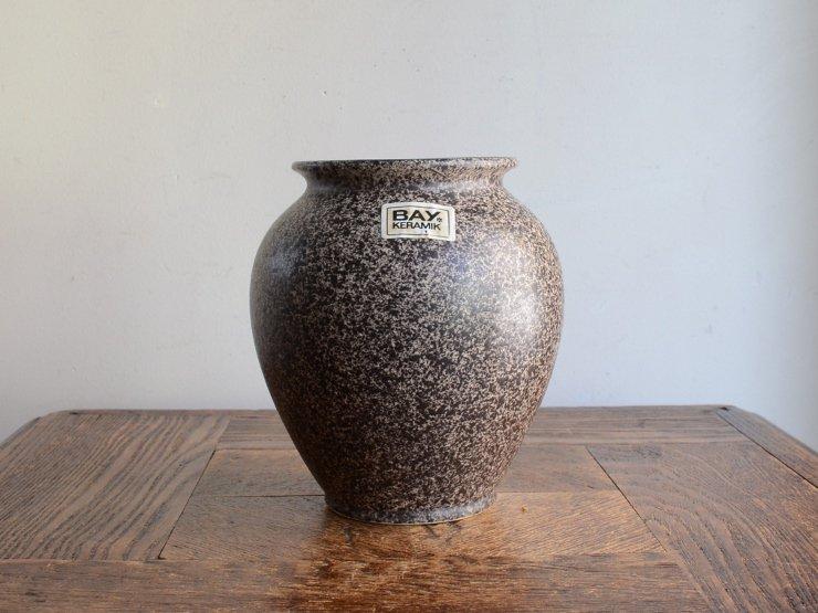 [new] ヴィンテージ 陶器フラワーベース(H14cm)
