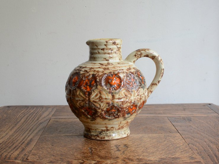 ヴィンテージ 陶器フラワーベース(H12.5cm)