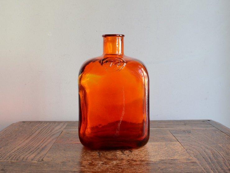 ヴィンテージ ガラス フラワーベース (H15.5cm)