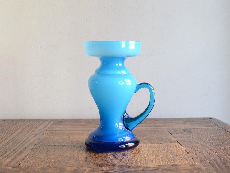 ヴィンテージ ガラス フラワーベース (H13cm)