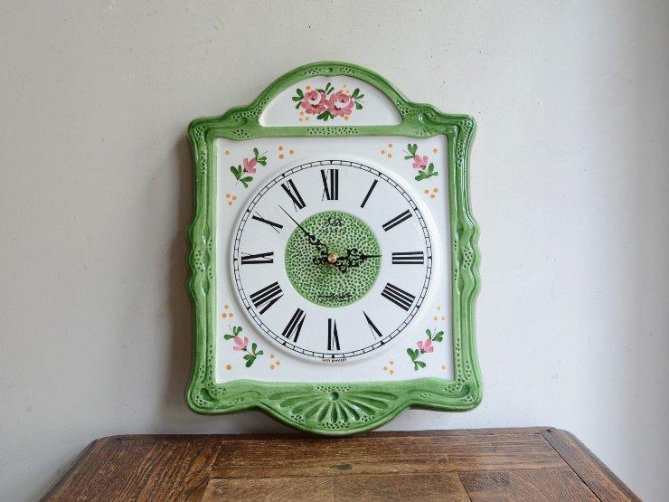 [new] ヴィンテージ 陶器ウォールクロック(掛け時計)