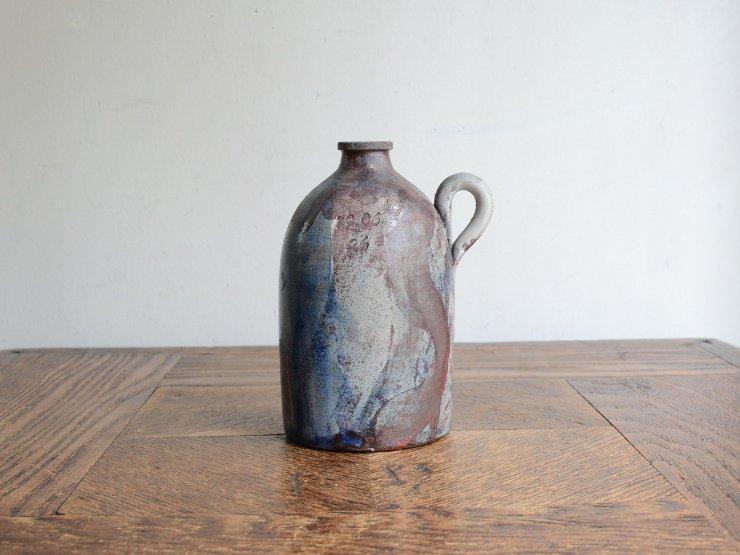 ヴィンテージ 陶器フラワーベース(H10.5cm)