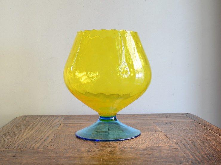 [new] ヴィンテージ ガラス フラワーベース (H17cm)