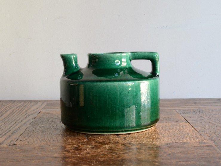 ヴィンテージ 陶器フラワーベース(H8cm)