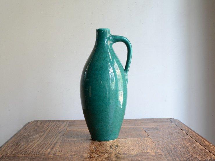 ヴィンテージ 陶器フラワーベース(H22.5cm)
