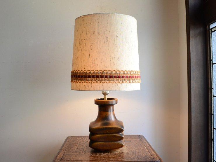 ヴィンテージ 陶器 テーブルランプ (H56.5cm)