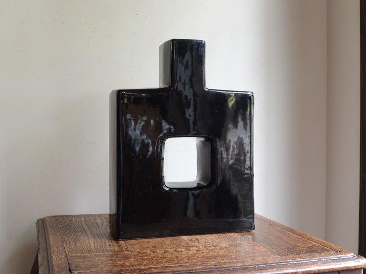 [new] ヴィンテージ 陶器フラワーベース(H30cm)