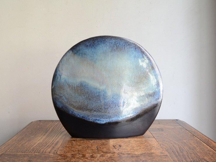 ヴィンテージ 陶器フラワーベース(H20.5cm)