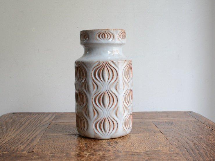 [new] ヴィンテージ 陶器フラワーベース(H15.5cm)