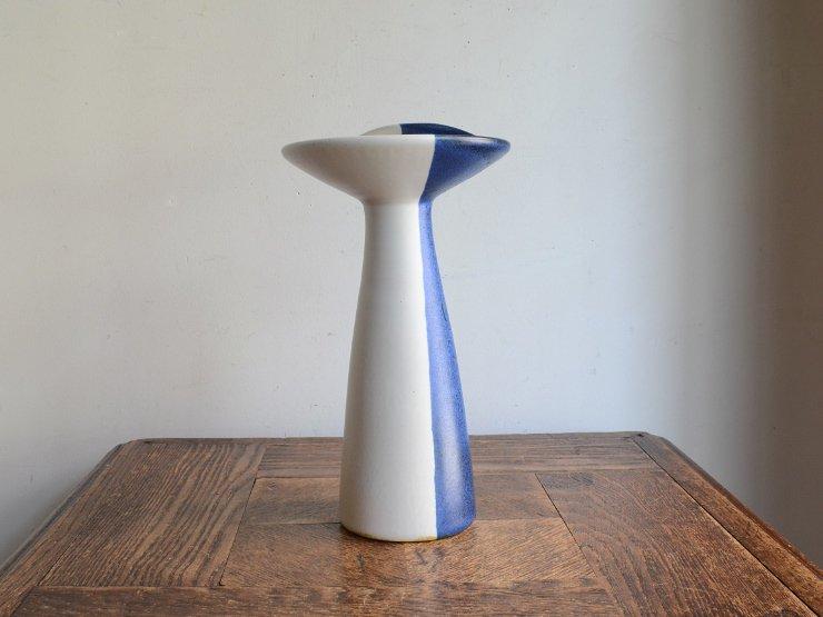[new] ヴィンテージ 陶器フラワーベース(H22cm)