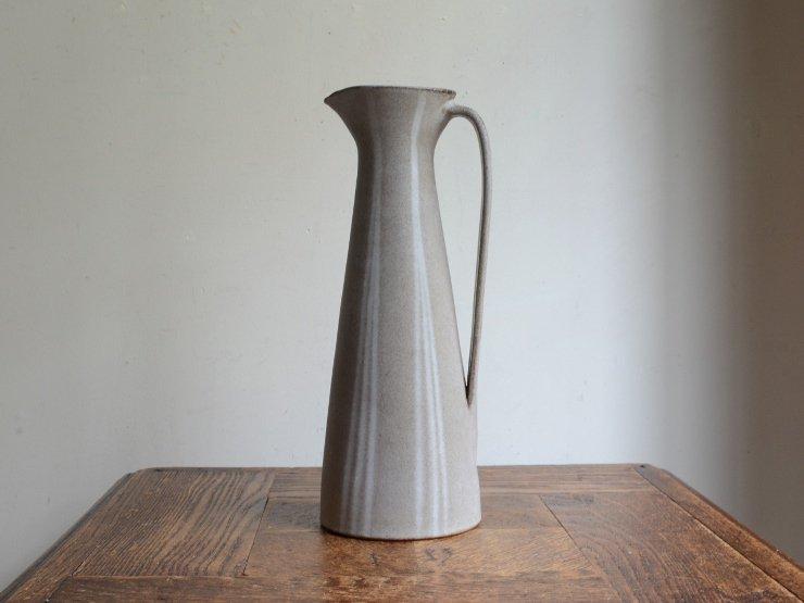 [new] ヴィンテージ 陶器フラワーベース(H26cm)