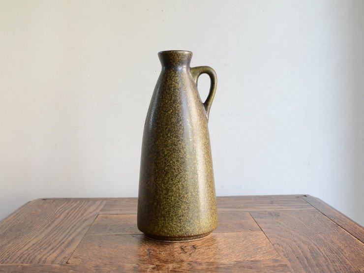 [new] ヴィンテージ 陶器フラワーベース(H18.5cm)