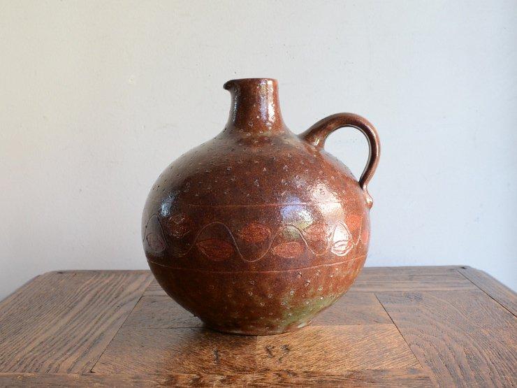 [new] ヴィンテージ 陶器フラワーベース(H16.5cm)