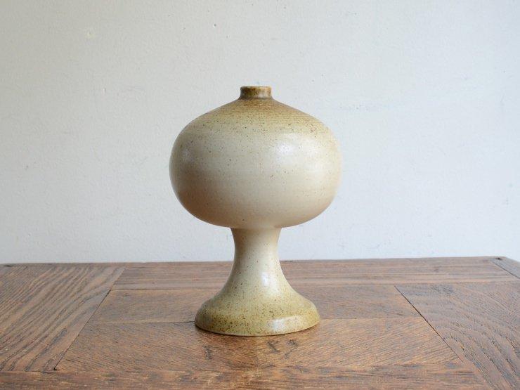 [new] ヴィンテージ 陶器フラワーベース(H12.5cm)