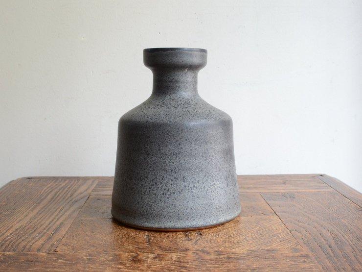 [new] ヴィンテージ 陶器フラワーベース(H15cm)
