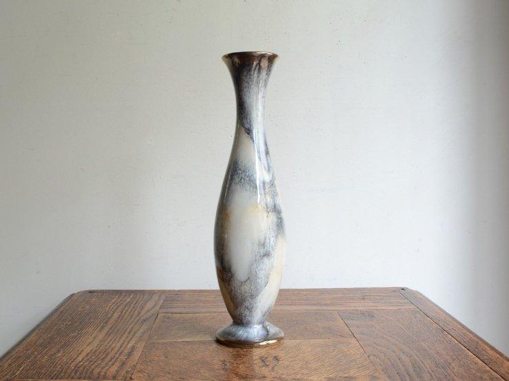 [new] ヴィンテージ 陶器フラワーベース(H24.5cm)