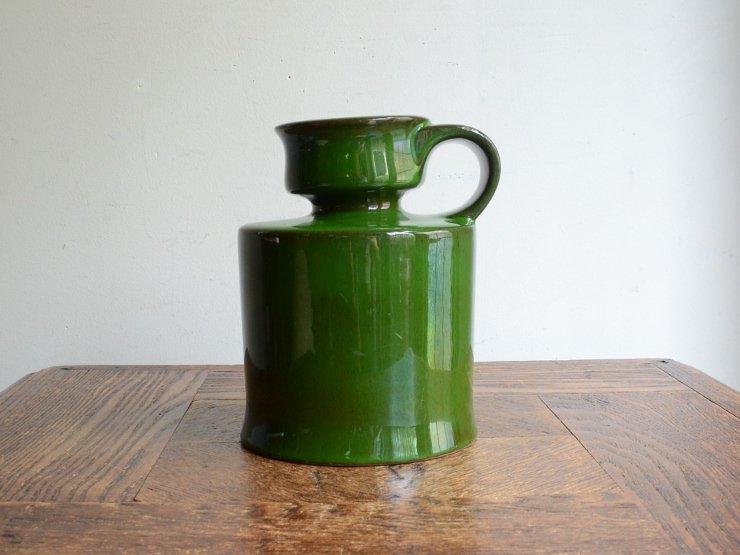 [new] ヴィンテージ 陶器フラワーベース(H14.5cm)