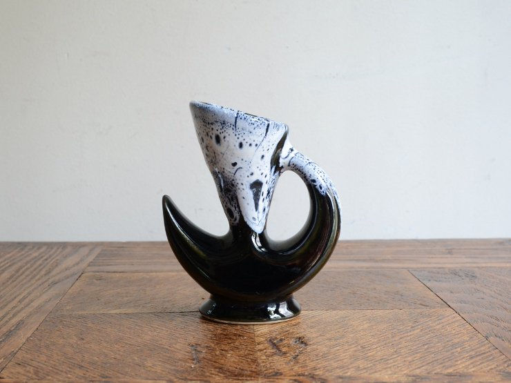 [new] ヴィンテージ 陶器フラワーベース(H9.5cm)