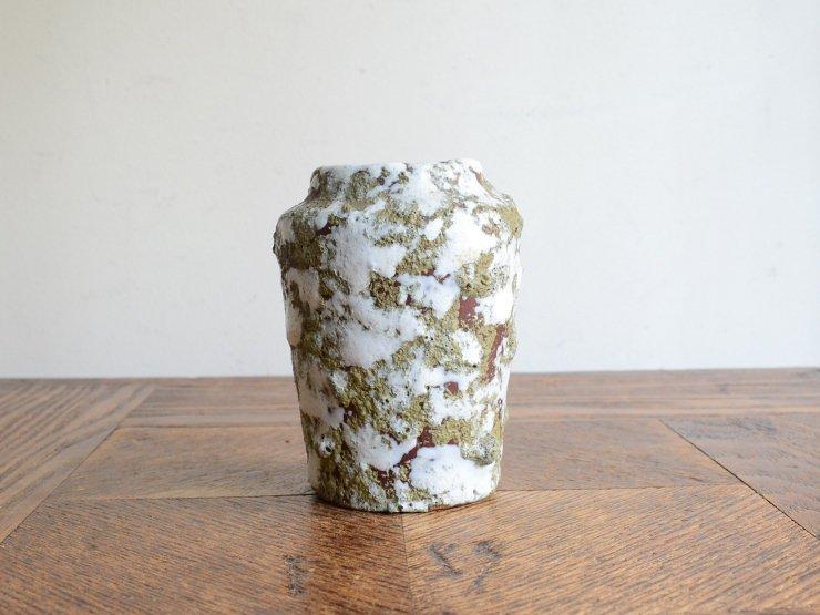 [new] ヴィンテージ 陶器フラワーベース(H8cm)