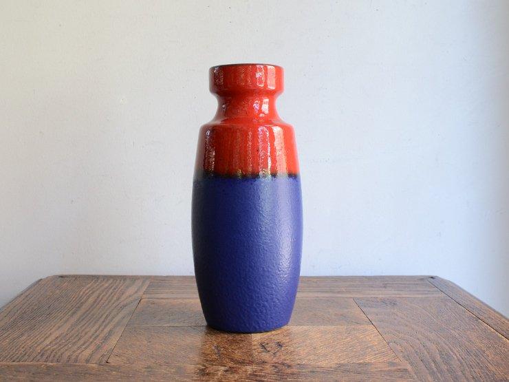 [new] ヴィンテージ 陶器フラワーベース(H19cm)