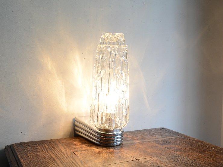 [new] ヴィンテージ デザインガラス クロームウォールランプ