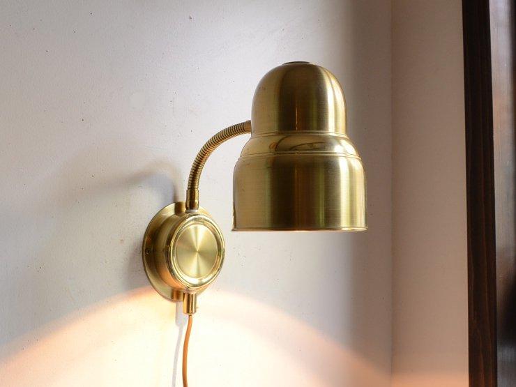 [new] ヴィンテージデザイン 真鍮アームウォールランプ