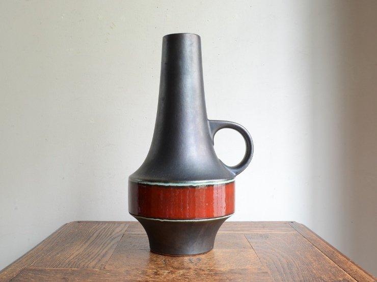 [new] ヴィンテージ 陶器フラワーベース(H28cm)