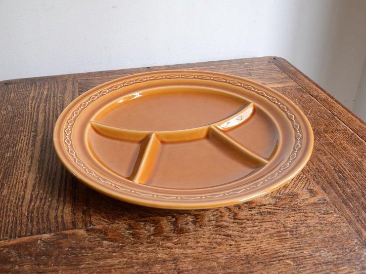 [new] ヴィンテージ 陶器 セパレートプレート