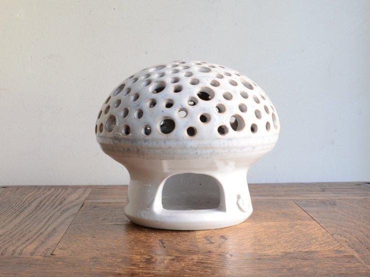 [new] ヴィンテージ きのこモチーフ陶器キャンドルホルダー