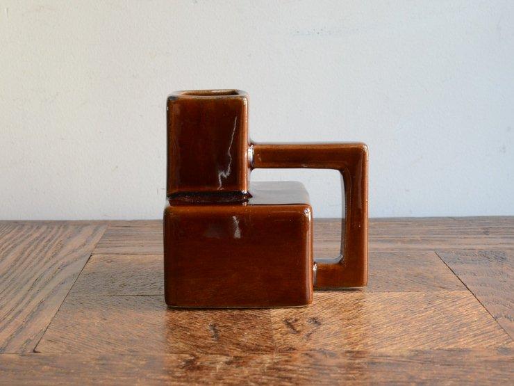 [new] ヴィンテージ 陶器フラワーベース(H9cm)