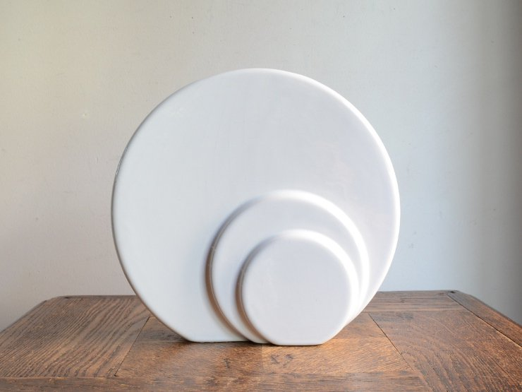 [new] ヴィンテージ 陶器フラワーベース(H19.5cm)