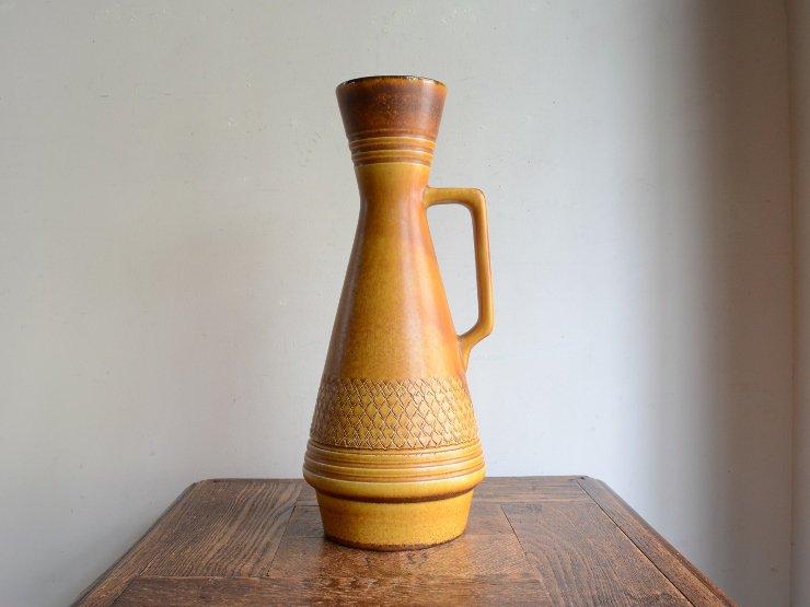 [new] ヴィンテージ 陶器フラワーベース(H35cm)