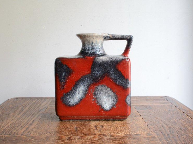 ヴィンテージ 陶器フラワーベース(H15cm)