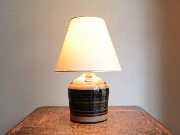 ヴィンテージ 陶器 テーブルランプ (H30cm)