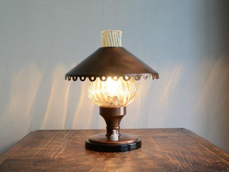 [new] ヴィンテージ オイルランプ型 テーブルランプ(H22.5cm)