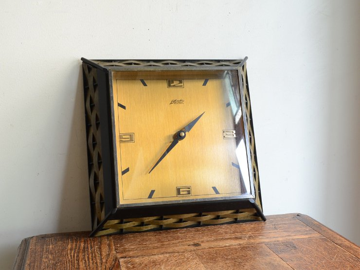 [new] ヴィンテージ アイアン&真鍮 ウォールクロック(壁掛け時計)