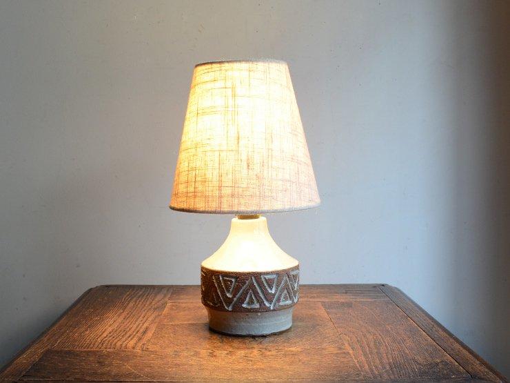 [new] ヴィンテージ 陶器 テーブルランプ (H26.5cm)