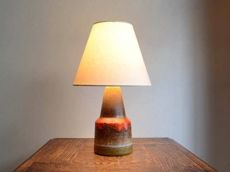 [new] ヴィンテージ 陶器 テーブルランプ (H33cm)