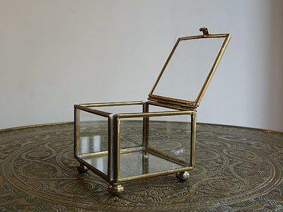 真鍮×ガラス アクセサリーケース