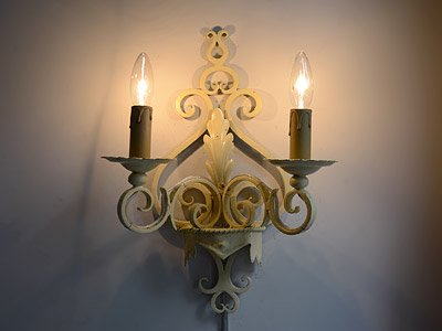 ヴィンテージ アイアン2灯ウォールランプ