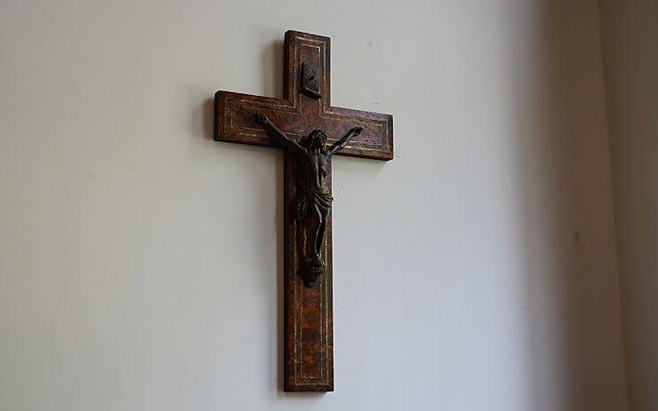 木製クロス(十字架) ウォールデコレーション(H40.5cm)