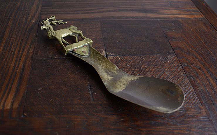 真鍮製 鹿モチーフ 靴べら