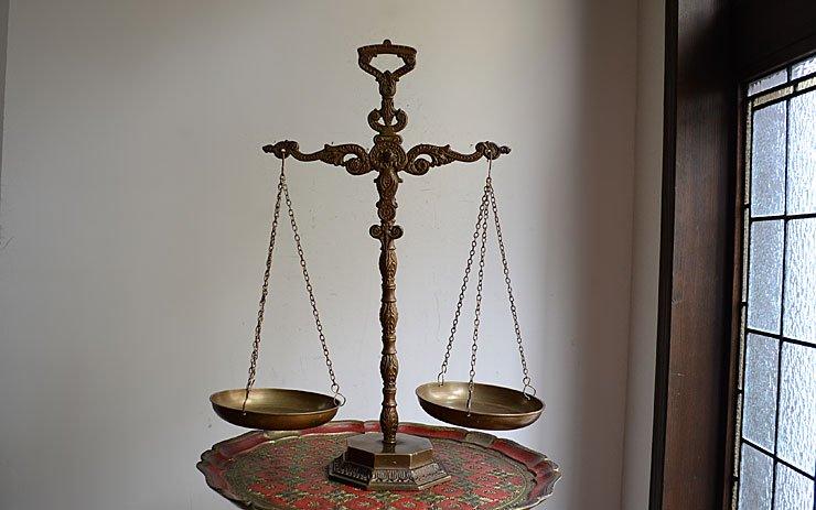 アンティーク 真鍮製スケール(天秤)