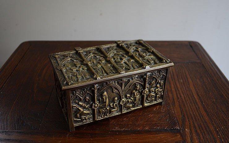 アンティーク 真鍮アクセサリーケース