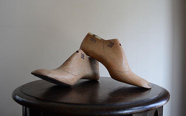 ヴィンテージ シューズモールド(靴の木型)set