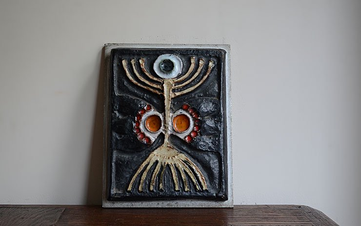 アンティーク 陶板 オブジェ