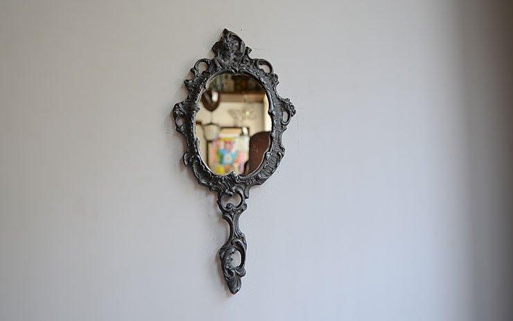 天使モチーフ ヴィンテージミラー(手鏡)