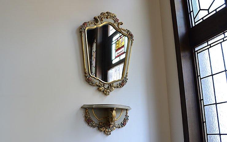 ヴィンテージ 壁掛けミラー&コンソール